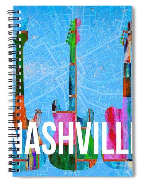 Nashville Guitars Music Scene Spiral Notebook