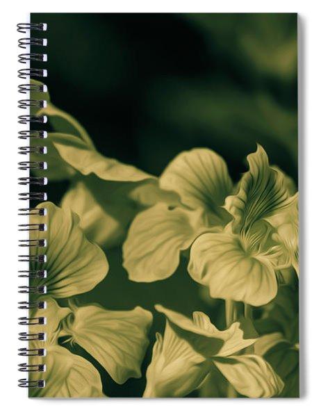 Nasturtium Black And White Spiral Notebook