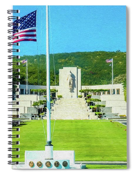National Memorial Cemetery Of The Pacific Digital Painting Spiral Notebook