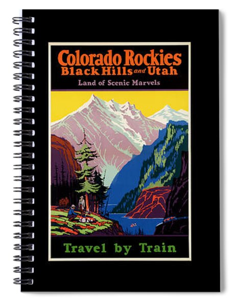 National Parks Posters Spiral Notebook