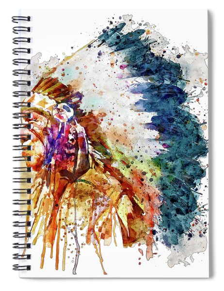 Native American Chief Side Face Spiral Notebook