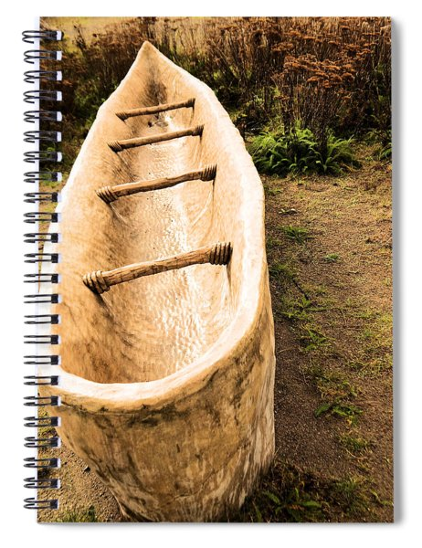 Native American Fishing Boat. Spiral Notebook