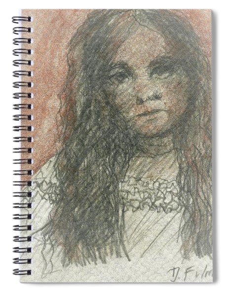 Native American Girl Spiral Notebook