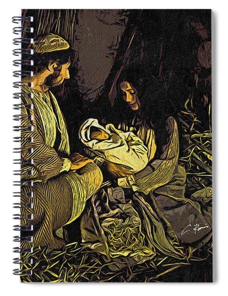 Nativity Scene Spiral Notebook