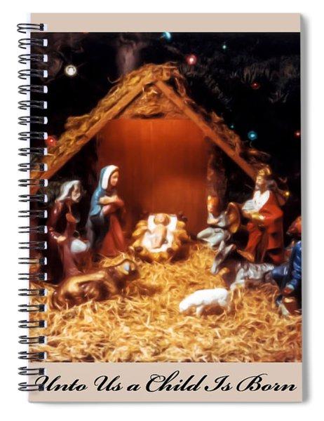 Nativity Scene Greeting Card Spiral Notebook