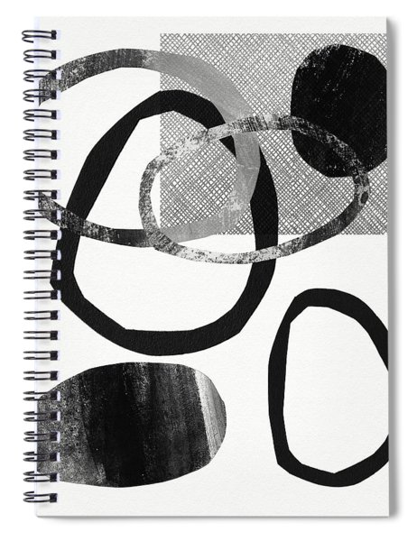 Natural Balance 2- Abstract Art By Linda Woods Spiral Notebook by Linda Woods