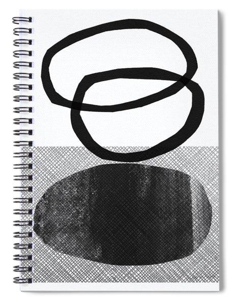Natural Balance- Abstract Art Spiral Notebook