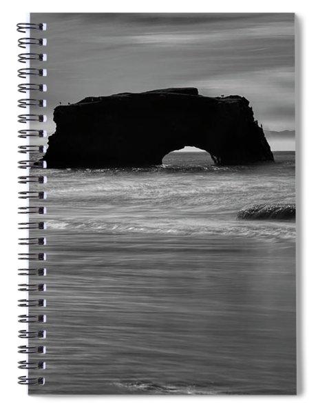 Natural Bridges State Beach Water B/w Spiral Notebook