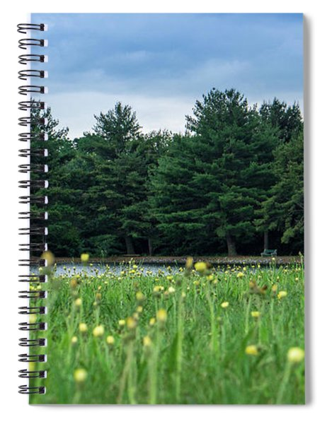 Evergreen Lake - A Groundhog View Spiral Notebook