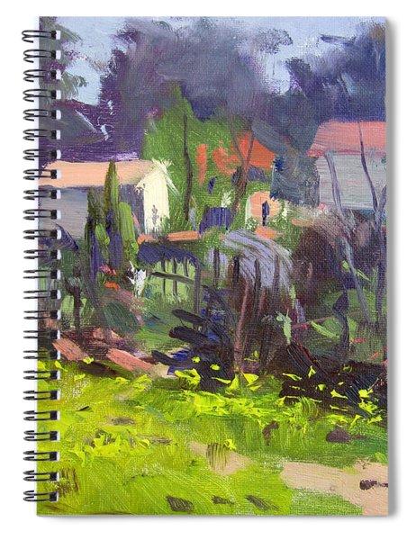 -natural Spring In Backyard Spiral Notebook