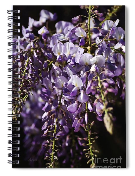 Natural Wisteria Bouquet Spiral Notebook