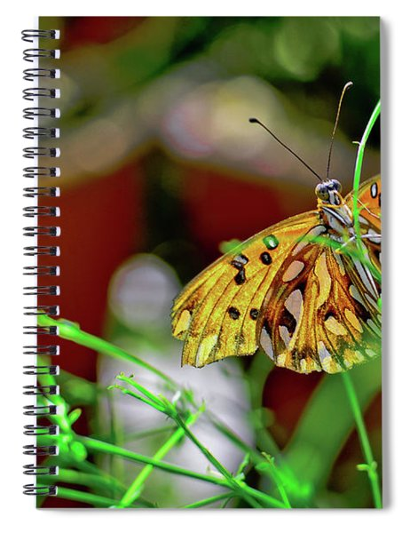 Nature - Butterfly And Plants Spiral Notebook