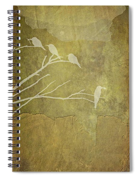 Nature Study In Gold  Spiral Notebook
