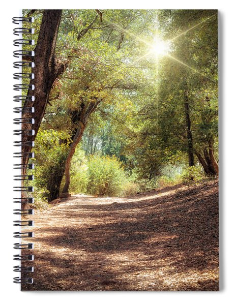 Spiral Notebook featuring the photograph Nature Trail by Alison Frank