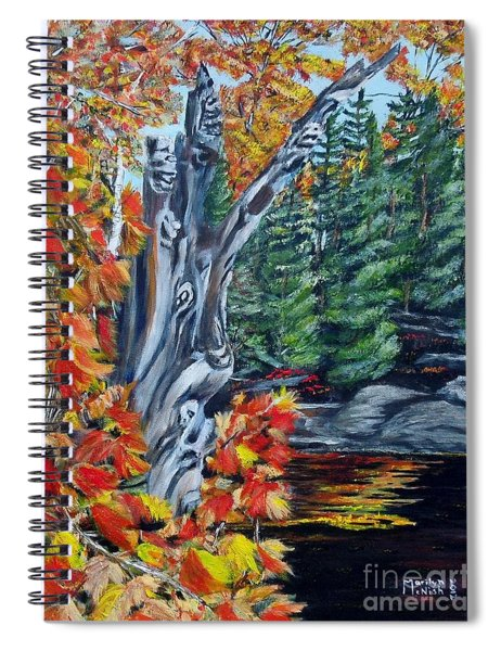 Natures Faces Spiral Notebook