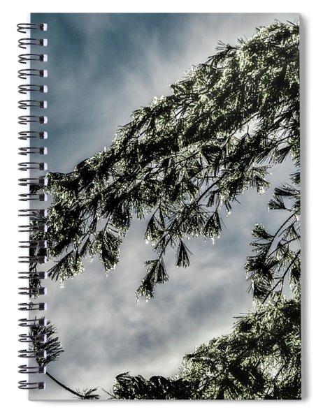 Natures Glitter Spiral Notebook