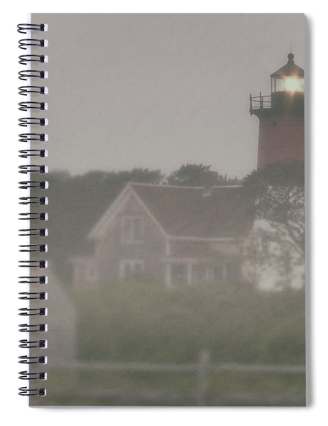Nauset Lighthouse In Red And White From Early Morning To Late Spiral Notebook