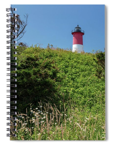 Nauset Lighthouse With Daisies Cape Cod Spiral Notebook