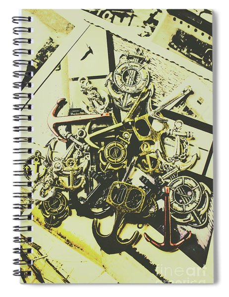 Nautical And Maritime Anchors Spiral Notebook