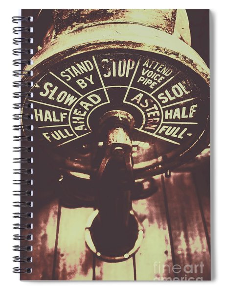 Nautical Engine Room Telegraph Spiral Notebook