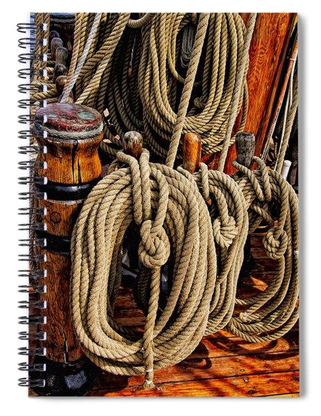 Nautical Knots 17 Oil Spiral Notebook