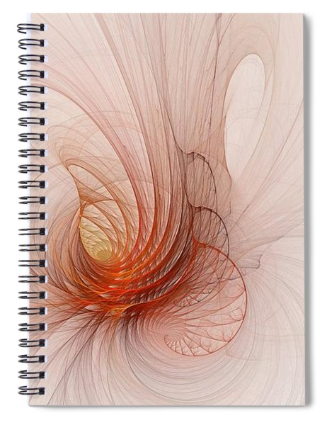 Nautilus In The Fractal Ether Spiral Notebook