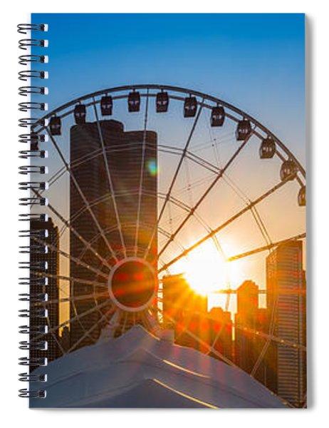 Navy Pier Sundown Chicago Spiral Notebook