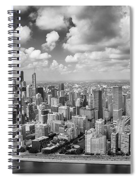 Near North Side And Gold Coast Black And White Spiral Notebook