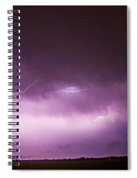 Nebraska Night Thunderstorms 013 Spiral Notebook