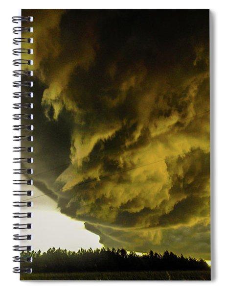 Nebraska Supercell, Arcus, Shelf Cloud, Remastered 018 Spiral Notebook