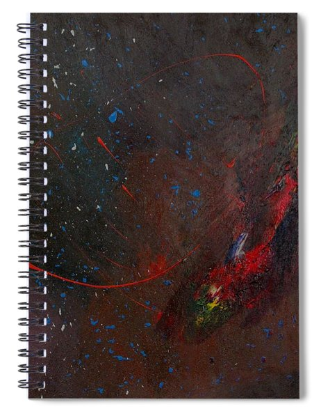 Spiral Notebook featuring the painting Nebula by Michael Lucarelli