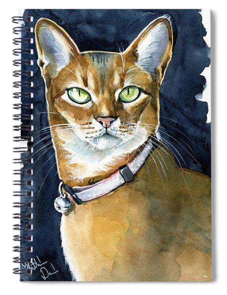 Nefertiti - Abyssinian Cat Portrait Spiral Notebook