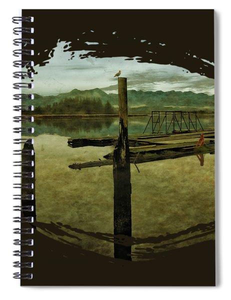 Nehalem Bay Reflections Spiral Notebook