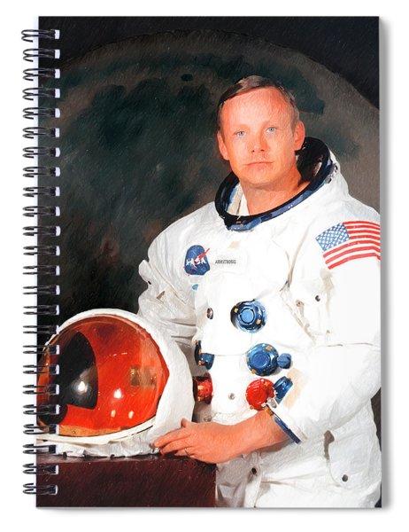 Neil Armstrong Spiral Notebook