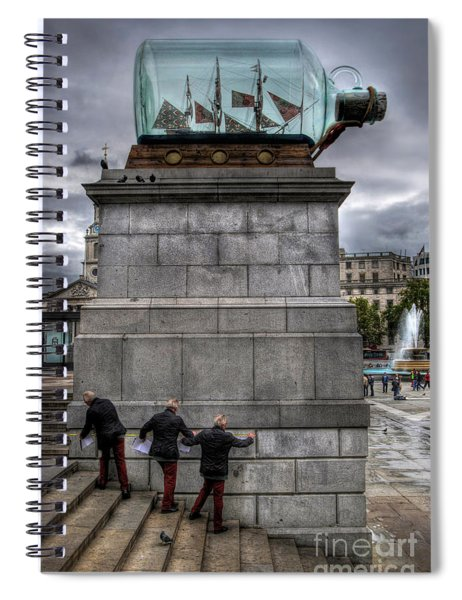 Nelson's Ship In A Bottle Spiral Notebook