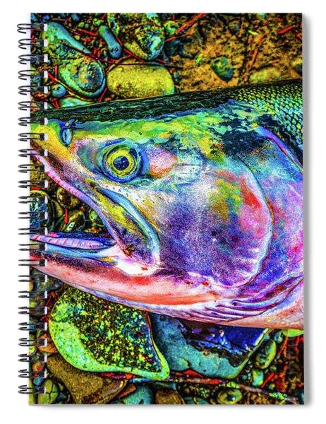Neon Coho  Spiral Notebook