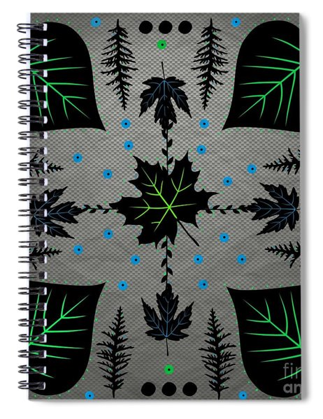 Neon Leaves Spiral Notebook
