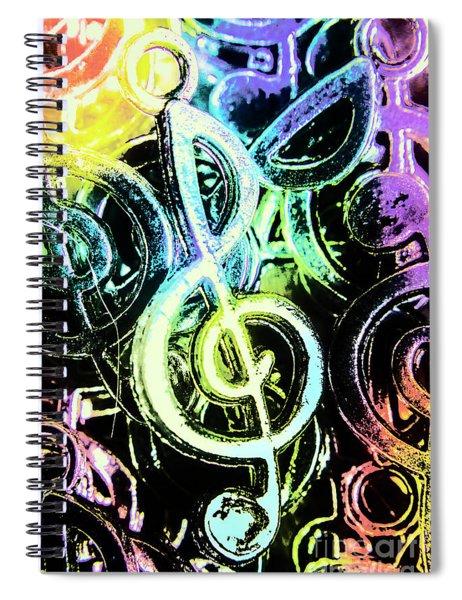 Neon Notes Spiral Notebook