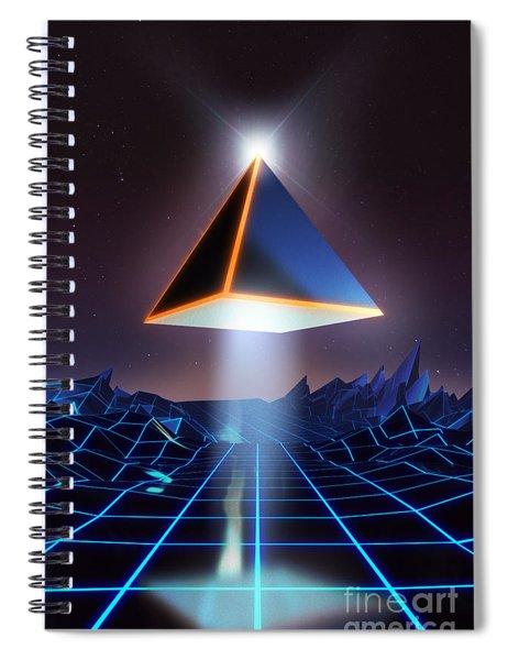 Neon Road  Spiral Notebook