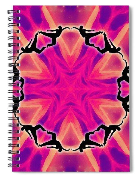 Neon Slipstream Spiral Notebook by Derek Gedney