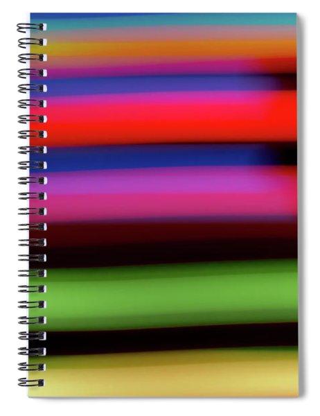 Neon Stripe Spiral Notebook