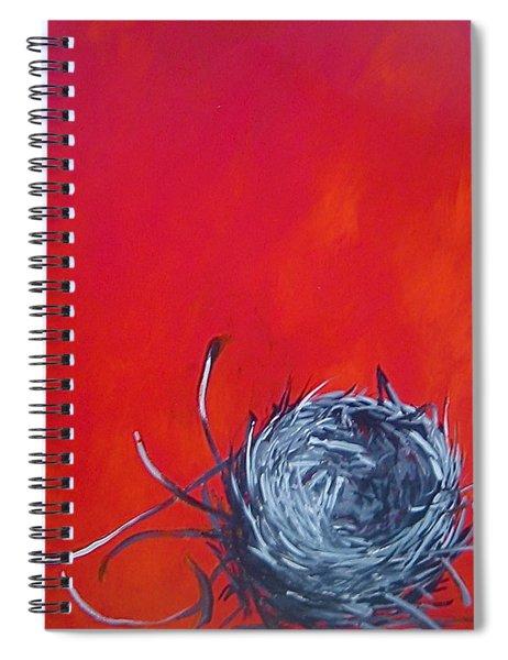 Nest On Red Spiral Notebook