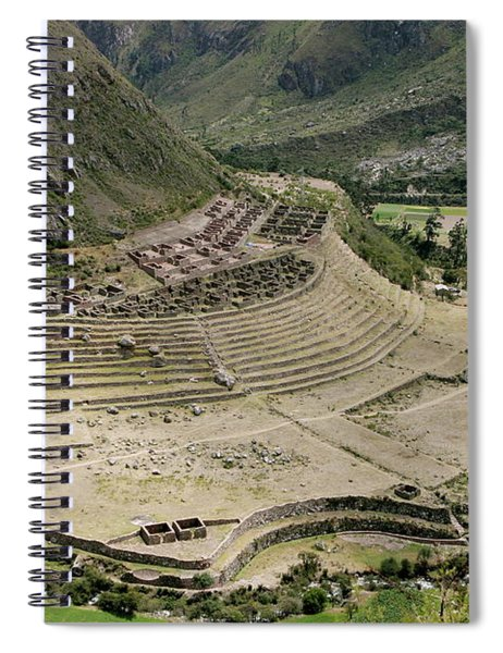 Nestled At The Foot Of A Mountain Spiral Notebook