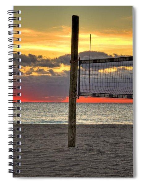Netting The Sunrise Spiral Notebook