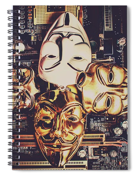 Network Of Anons Spiral Notebook