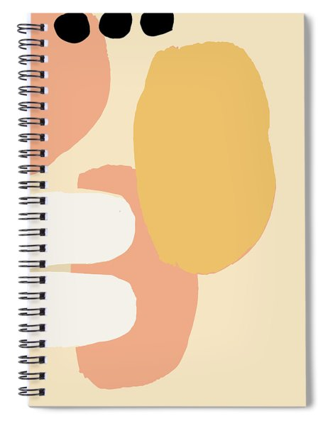 Neutral Abstract Spiral Notebook