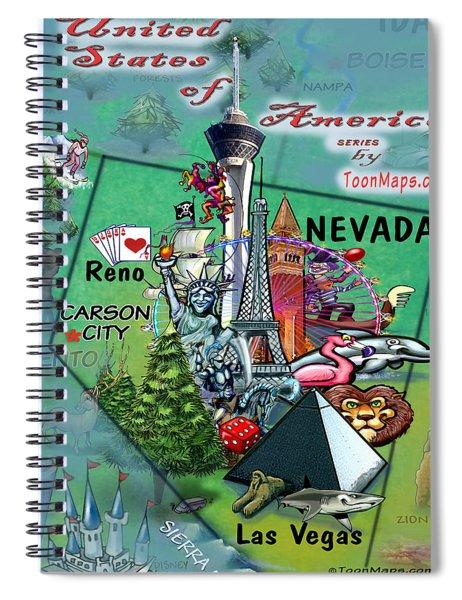 Nevada Fun Map Spiral Notebook