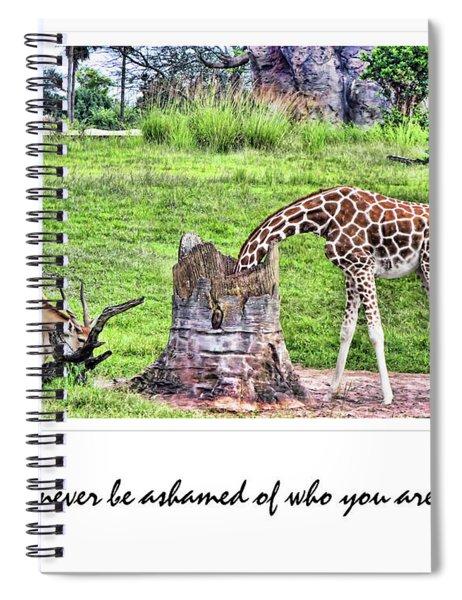 Never Be Ashamed Spiral Notebook