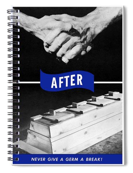 Never Give A Germ A Break Spiral Notebook