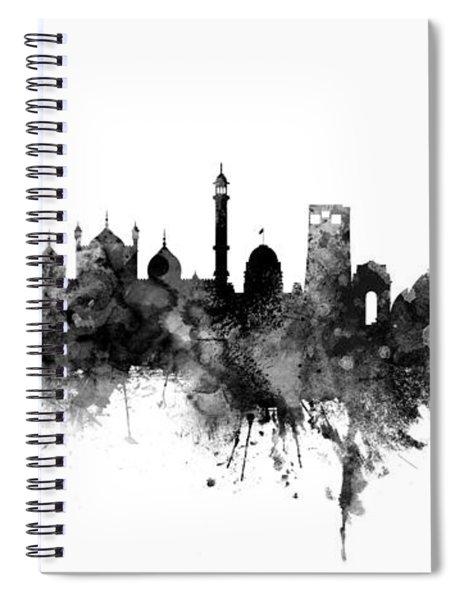 New Delhi India Skyline Panoramic Spiral Notebook